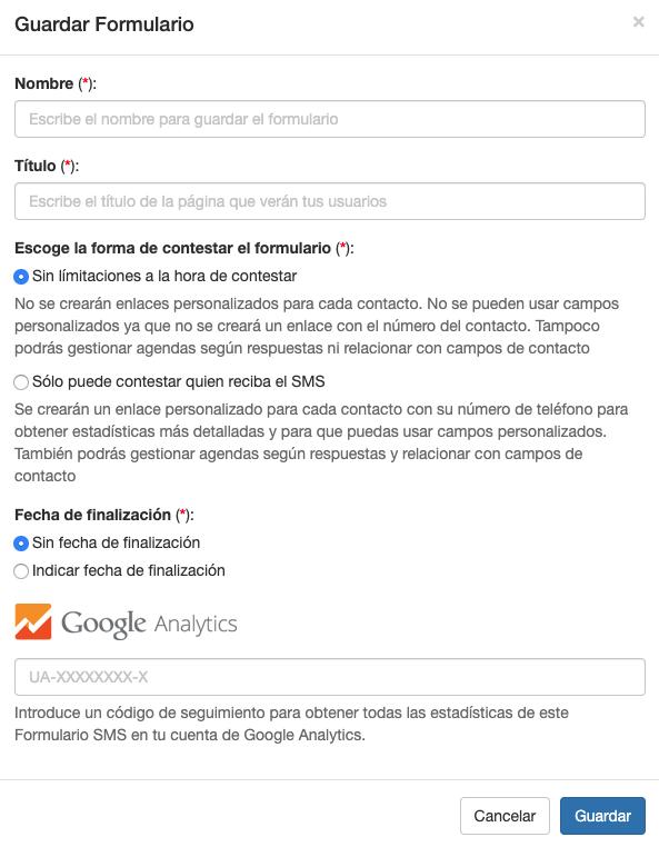 Recuerda poner el código de Google Analytics en tus Formularios  - INNOVA360