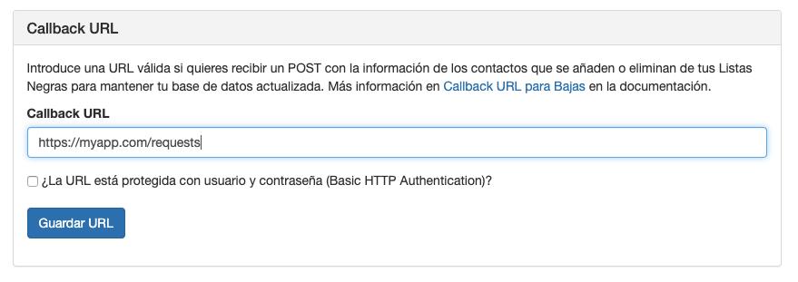 Callback URL para bajas - INNOVA360
