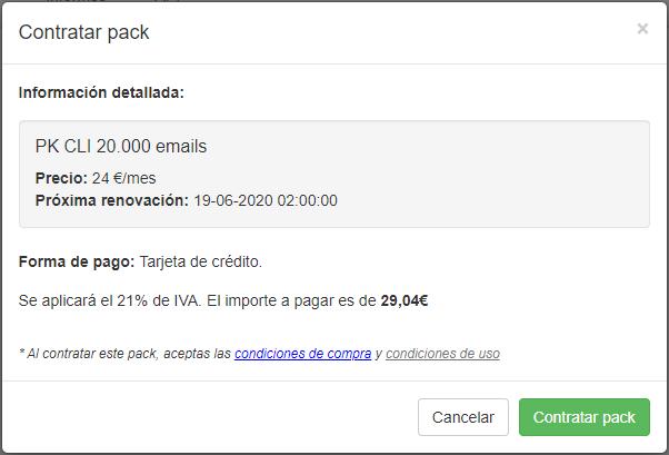 Packs para clientes - Contratar pack - INNOVA360