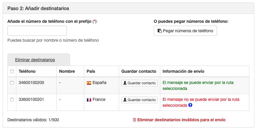 Añadir destinatarios en envíos simples - INNOVA360