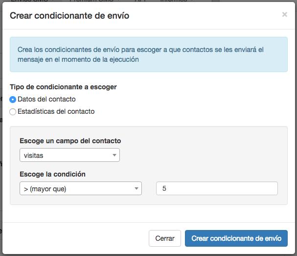Crear condicionante de envío tipo fecha en Campañas Inteligentes - INNOVA360